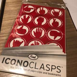 Iconoclasps (paper clips)