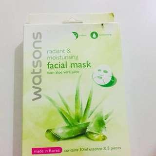 Watsons Aloe vera facial mask