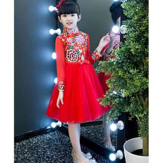 CNY 2018 - Red Blossom Cheongsam for girls