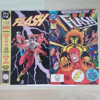 DC Comics Flash Annual 3 and 4 Near Mint Condition