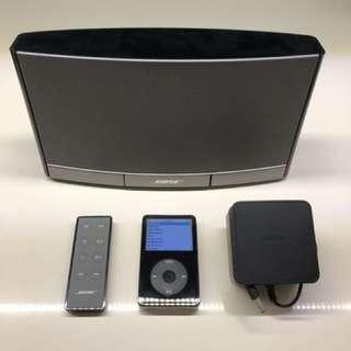 Apple Black iPod 80GB & Bose SoundDock Portable