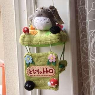 龍貓纸巾抽 毛绒卫生间吸盘卷纸收纳挂袋抽纸巾筒家用