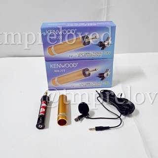 Microphone Jepit Kenwood WM 777 Tie Clip Microphone
