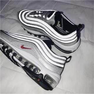 二手 Nike max97 銀彈