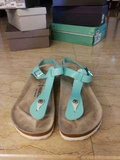 Birkenstock sandals in tiffany blue size 40