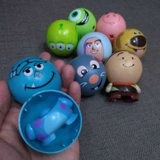 Disney Pixar Egg figures