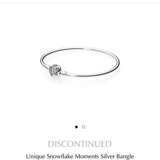 Authentic Pandora Snowflake Limited Edition Bangle