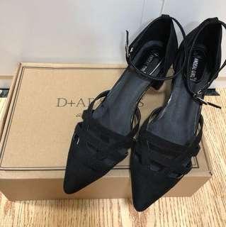 D+AF 僂空 尖頭鞋 黑