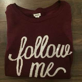 Girl's 'Follow Me' Sweater
