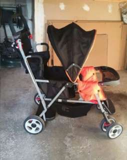 Joovy 2-Seater Stroller with Rain Cover
