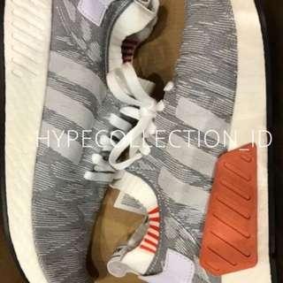 Adidas NMD R2 Grey White Strap Doff Orange BNIB