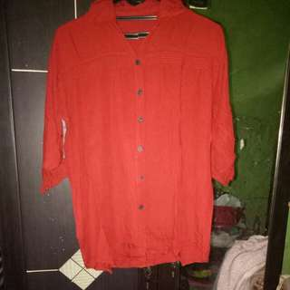Kemeja blouse merah