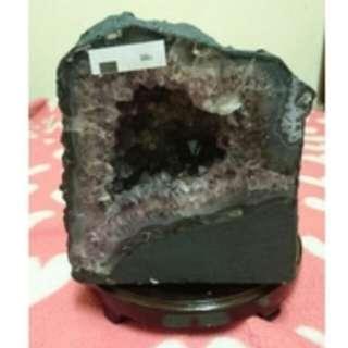 🚚 巴西 天然 紫晶洞 重3.05公斤 (附座)