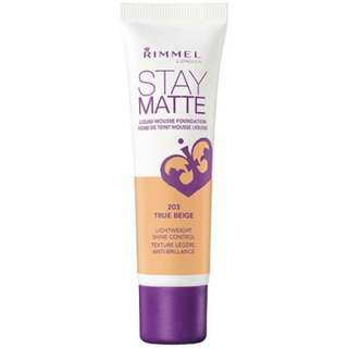 Looking for: Rimmel Stay Matte Mousse Foundation