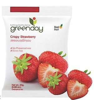 泰國 Greenday 冰乾水果~士多啤梨脆片25g