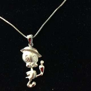 Sterling silver Tweety Bird necklace