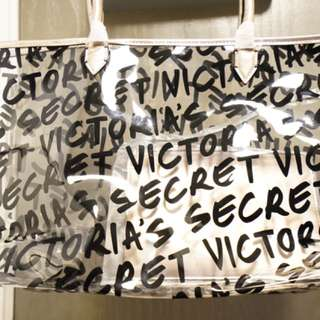 Victoria secret tote with pouch