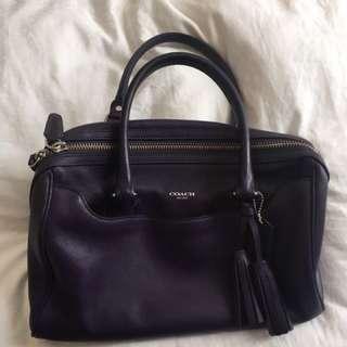 Authentic coach designer leather handbag purse