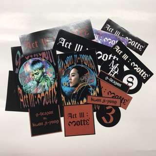 G-DRAGON MOTTE III OFFICIAL STICKER SET