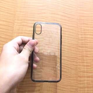 Iphone x case 碳黑簡約風
