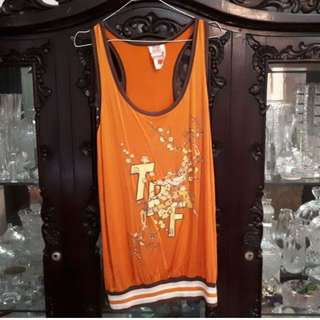 Long Orange Tanktop