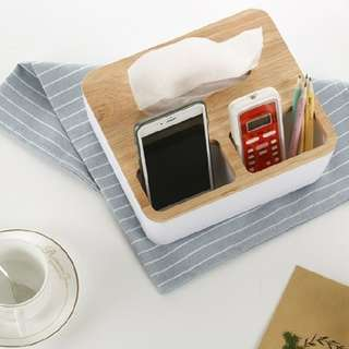 BNIB Minimalist Tissue Box with dual compartment.