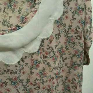Baby pink floral blouse