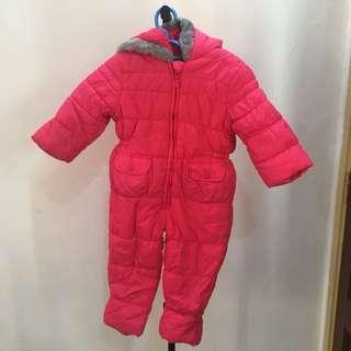 Mothercare pink kids snowsuit