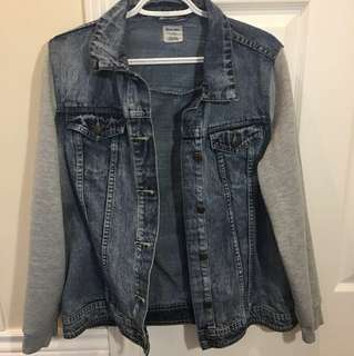 Denim Sweater Jacket