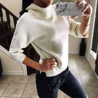 White wool & cotton sweater size XS - S