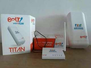 First Bolt home ultra 4G dan Tv channel Big tv