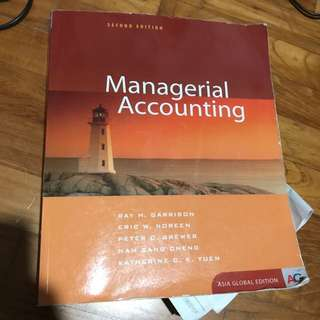 MA managerial accounting textbook and notes