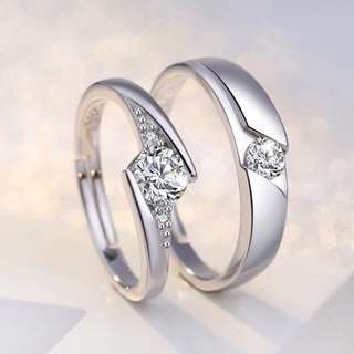 925 pure silver couple rings