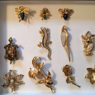 BROOCHEs and Scarf pins