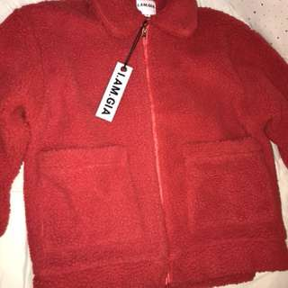 I.AM.GIA RED PIXIE COAT