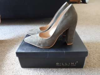 Billini Khaki Suede Heels (New) size 7Au