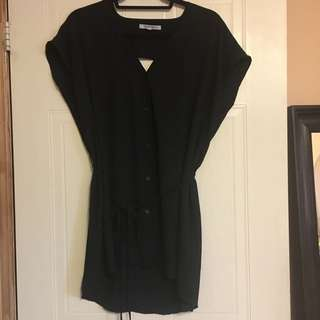 Black Blouse - Size Medium
