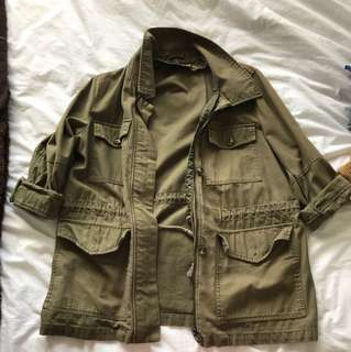 Topshop oversize army jacket