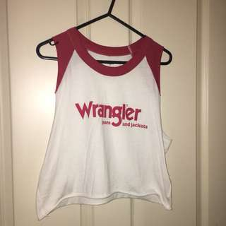Authentic Wrangler crop tank top