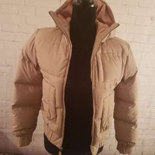 TNA Aritzia Beige Puffy Down Winter Puffer Jacket