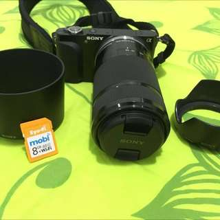Preloved Sony Mirrorless NEX-3N + Lens SEL55-210 + Vanguard Tripod + Eyefy Wireless Memory Card
