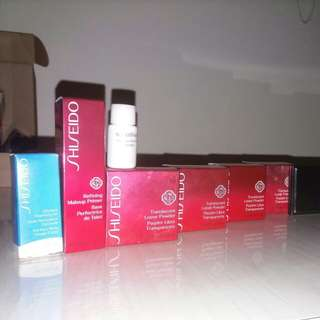 Shiseido Grooming sample set with Free make up pouch