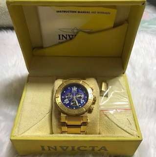 Invicta 6879 Ocean Reef 18k Gold Plated *REPRICED