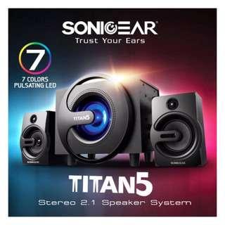 New - Sonic Gear Titan5 Speaker (Black)