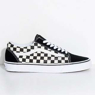 [Instock] Vans Old Skool Checkerboard Black