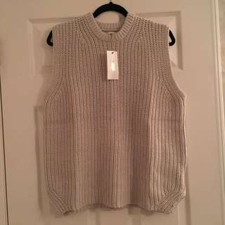 Oak + Fort sleeveless knit sweater size S