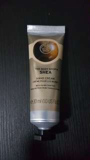 The Body Shop hand cream and lip butter