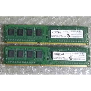 Crucial DDR3 1600mhz  (4gb x2 ) 8gb kit