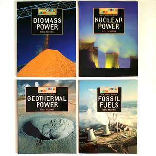 Energy Sources: Biomass, Geothermal, Fossil, Nuclear, Water, Solar & Wind Power 7 book series (Complete) by Neil Morris (Publisher: Franklin Watts) (Young Adult Non-Fiction Reference)