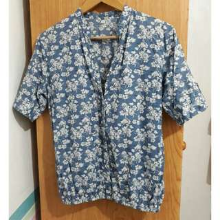 Floral Printed Polo